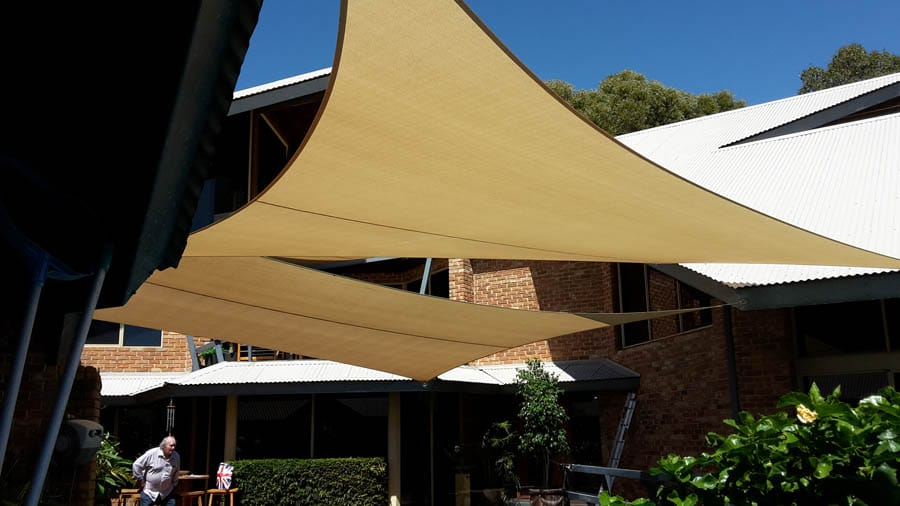 Shade Sails for Coffee Shop - Stuart Bell Shade Sails
