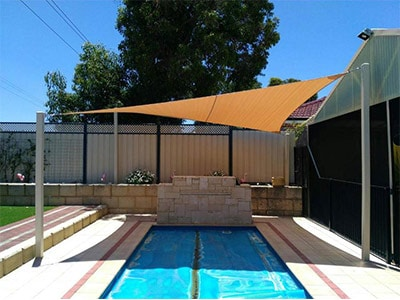 Shade Style for Swimming Pools - Stuart Bell Shade Sails