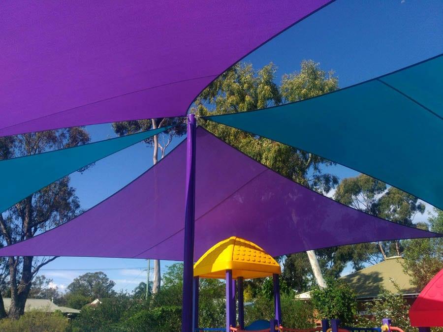 Colorful Playground Shade Sails - Stuart Bell Shade Sails