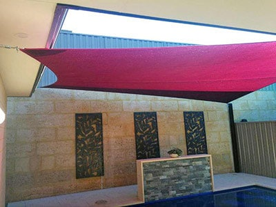 Residential Shade Sails in Beelair - Stuart Bell Shade Sails