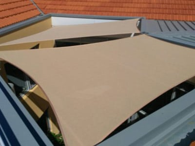 Shade Style for Roofs - Stuart Bell Shade Sails