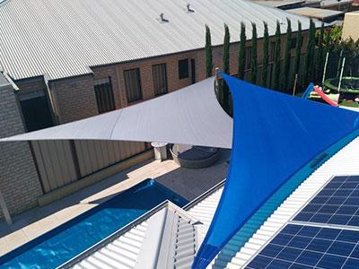 Residential Shade Sails in Yangebup - Stuart Bell Shade Sails